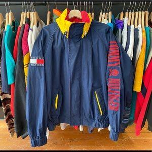 Vintage Tommy Hilfiger Flag Spellout Jacket Large